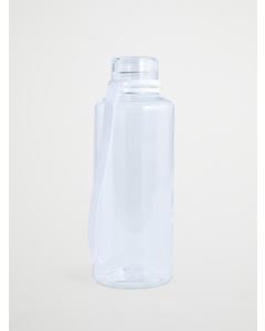 Water Bottle  Transparent  Solid  White Ribbon