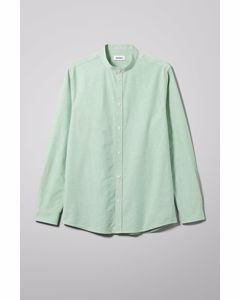 Haring Collarless Shirt Green