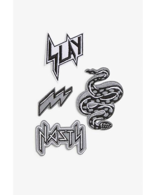 Monki Iron on patches Black