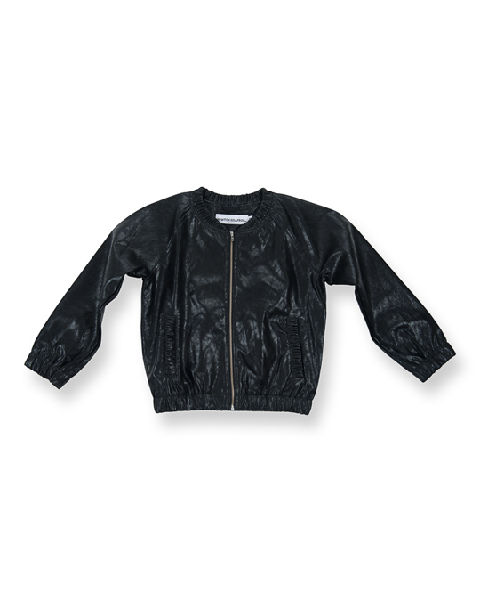 How to Kiss a Frog Betty Jacket Black Faux Leather