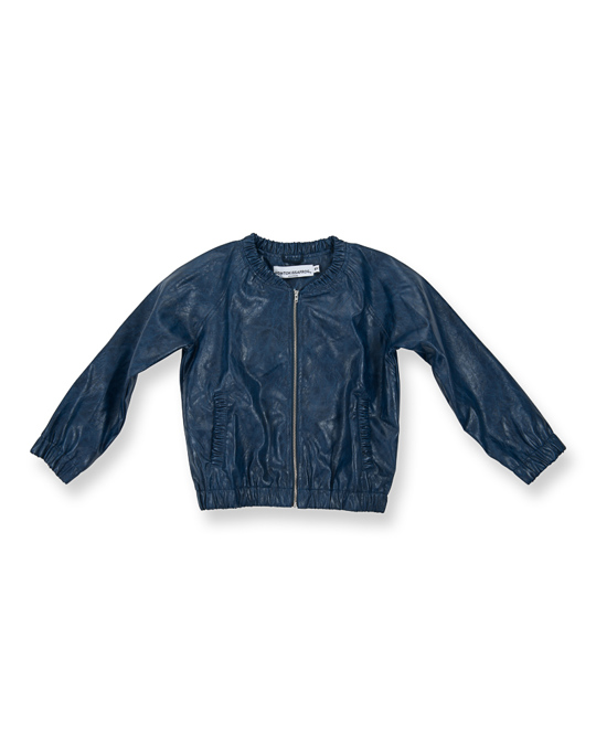 How to Kiss a Frog Betty Jacket Blue Faux Leather