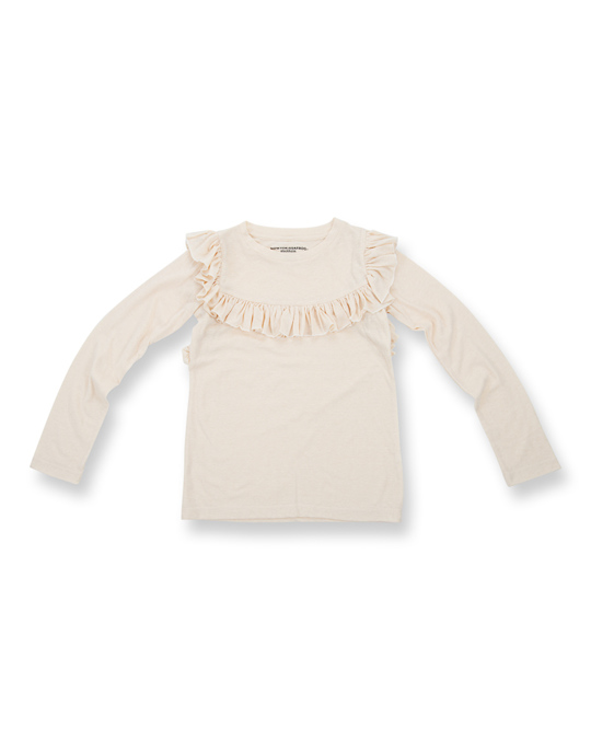 How to Kiss a Frog Frill Jumper Off White
