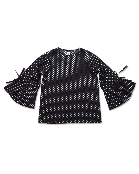 How to Kiss a Frog Kylie Top Black Dots