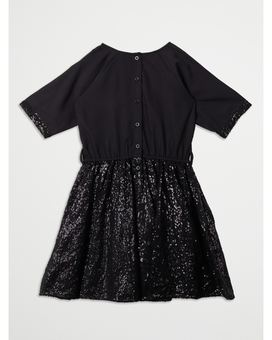 How to Kiss a Frog Siona Dress Black Sequins