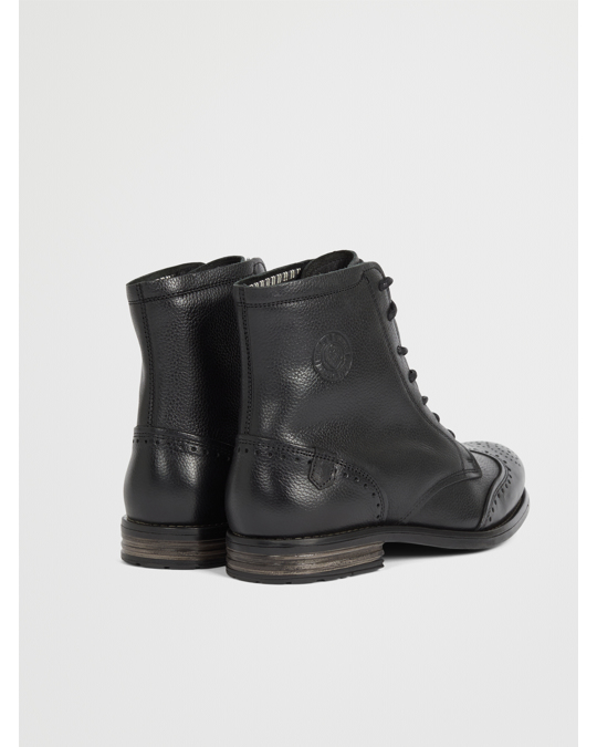 Sneaky Steve Meadows Leather Shoe Black