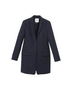 Denise Woven Coat Deep Marine Blue