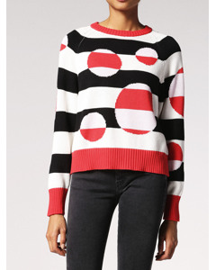 M-polka Pullover Racing Red