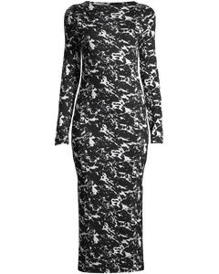 Lawson Meadow Ls Dress Black/white