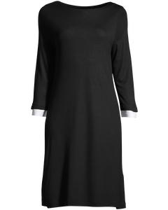 Manhatten Jrsy 3/4slv Dress Black/white