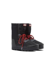 Hunter Orig Mens Snow Boot  Black/white