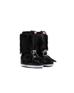 Hunter Orig Snow Boot Faux Fur Black