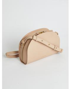 Galax Curve Hand Bag Beige
