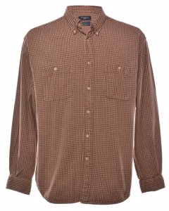 2000s Dockers Long Sleeved Checked Shirt