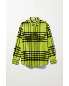 Jud Checked Shirt Lime Green