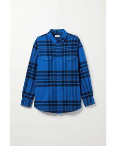 Jud Checked Shirt Blue