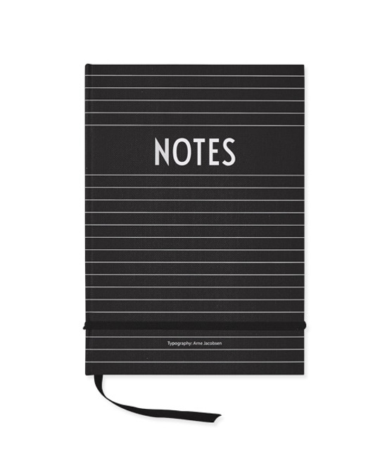 Design Letters Notes Book  Black