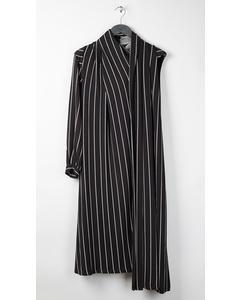 Draped Dress Black/white