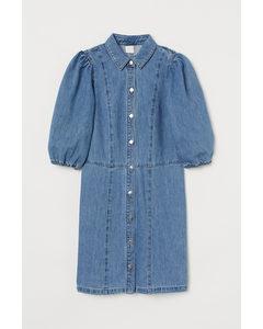 Blusenkleid aus Denim Blau