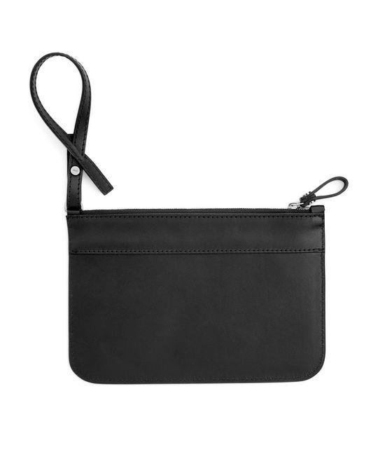 Arket Leather Pouch Black