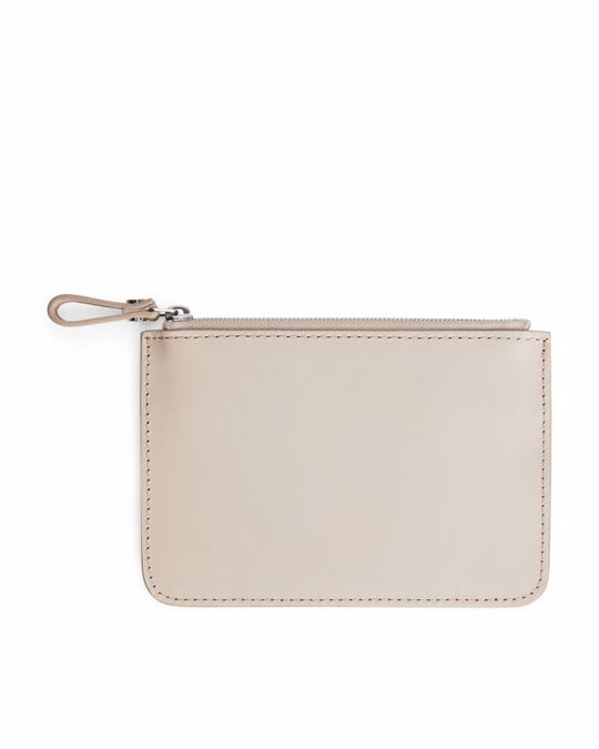 Arket Small Leather Pouch Light Sand
