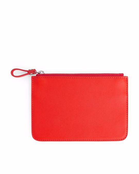 Arket Small Leather Pouch Orange