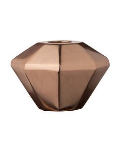 Candle Stick, Copper, Metal Ø8,5xh6,5 Cm