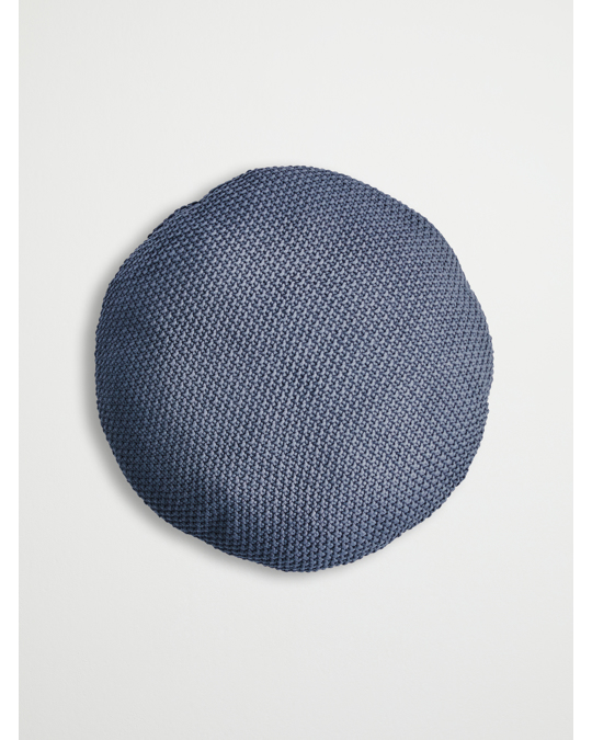 Bloomingville Cushion, Knitted, Grey Ø50 Cm