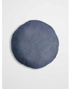 Cushion, Knitted, Grey Ø50 Cm