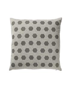 Cushion, Grey W/grey Print L45xw45 Cm