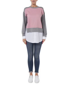 French Connection - Round Neck Sweatshirt Long Sleeves - Woman