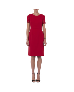 French Connection - V-neck Dress Short Sleeves - Woman