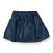 Peach Skirt Blue Faux Leather