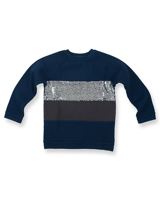 How to Kiss a Frog Siv Jumper Navy Silver Dark Grey