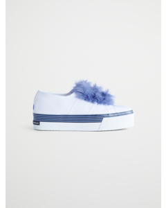 Superga 2790 3strapcotfur White-blue 902