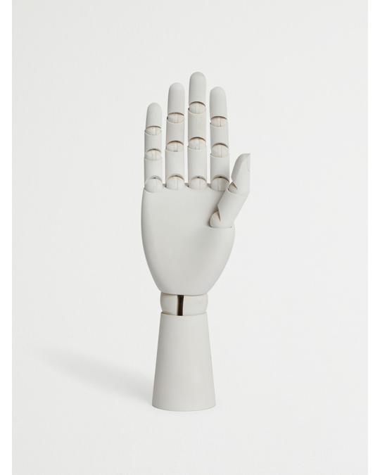 AFOUND OBJECTS Wooden Jewelry Hand White