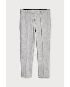 Anzughose Skinny Fit Graumeliert