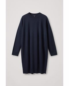 Seamless Merino Wool Dress Navy