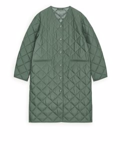 Quilted Coat Green