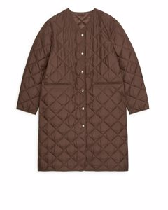 Quilted Coat Brown