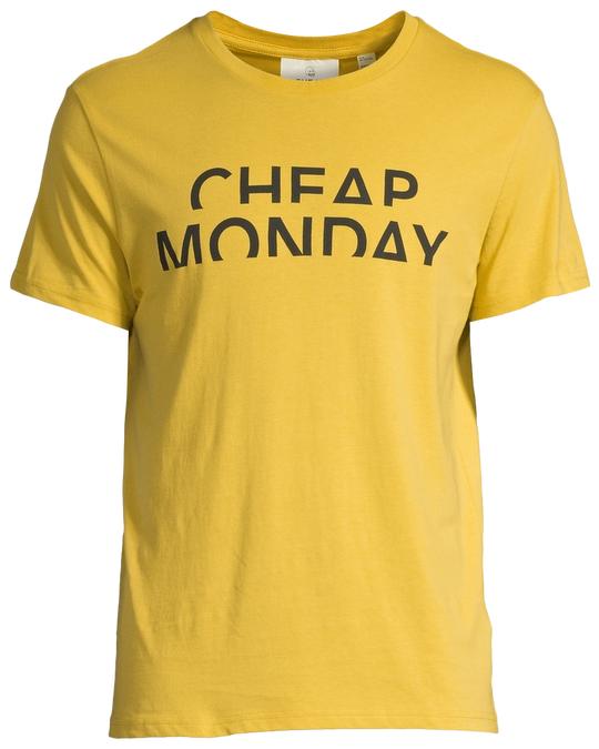 Cheap Monday Standard Tee Spliced Cheap Yellow Green