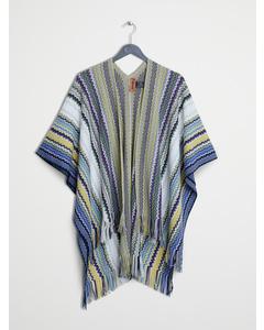 Crochet Knitted Cape 140x140cm Green