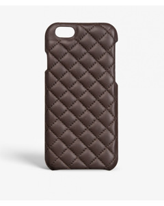 Iphone 6/6s Plus Quilted Nappa Dark Brown