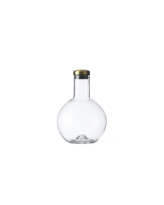 Bottle Carafe 1.4 L. Round. W. Brass Lid