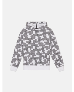 Mike Puzzle Check J Hooded Sweatshirt