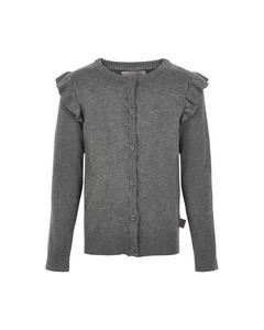 Cardigan Knit Mid Grey Melange