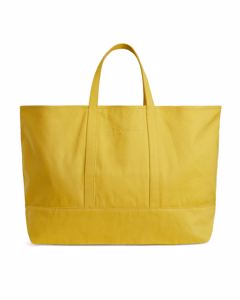 Canvas Shopper Bag Yellow