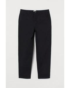 Cropped Chino - Slim Fit Zwart