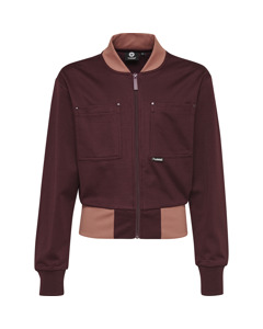 Note Zip Jacket Bordo