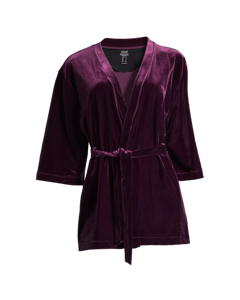 Casall Velvet Kimono Pulse Purple