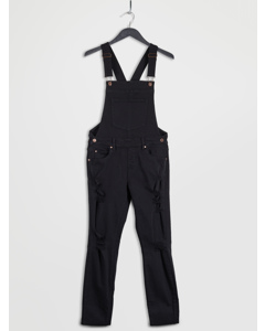 Ira Dungarees  Black Destroyed
